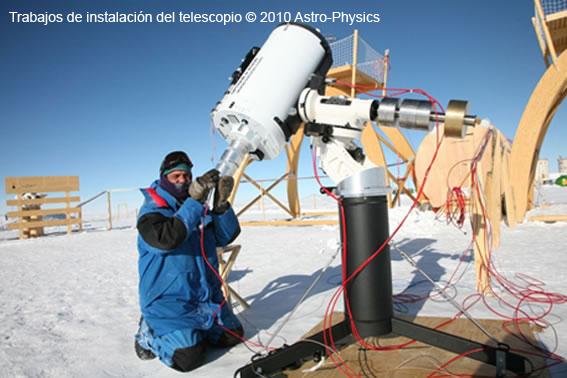motor dc telescopio