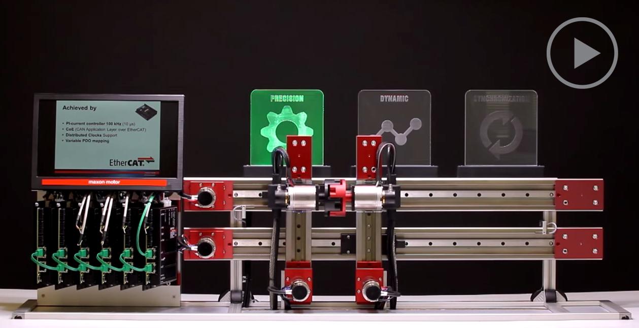 micro motor ethercat sincronizacion